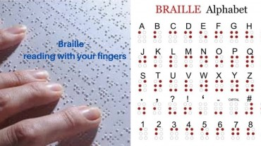 Braille – the world's most popular tactile reading and writing system